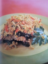 Eggplant-quinoa roast