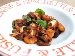 gnocchi - tomato and aubergine