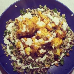 quinoa lentils cauliflower tahini